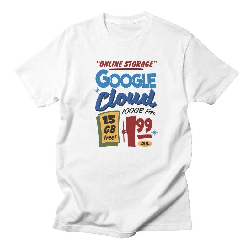 Google Cloud Sign Men's T-Shirt by Ian J. Norris