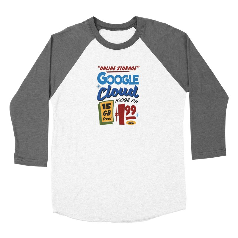 Google Cloud Sign Women's Baseball Triblend Longsleeve T-Shirt by Ian J. Norris