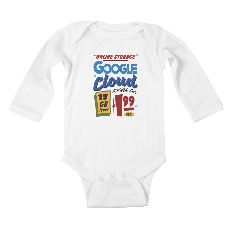 Google Cloud Sign Kids Baby Longsleeve Bodysuit by Ian J. Norris