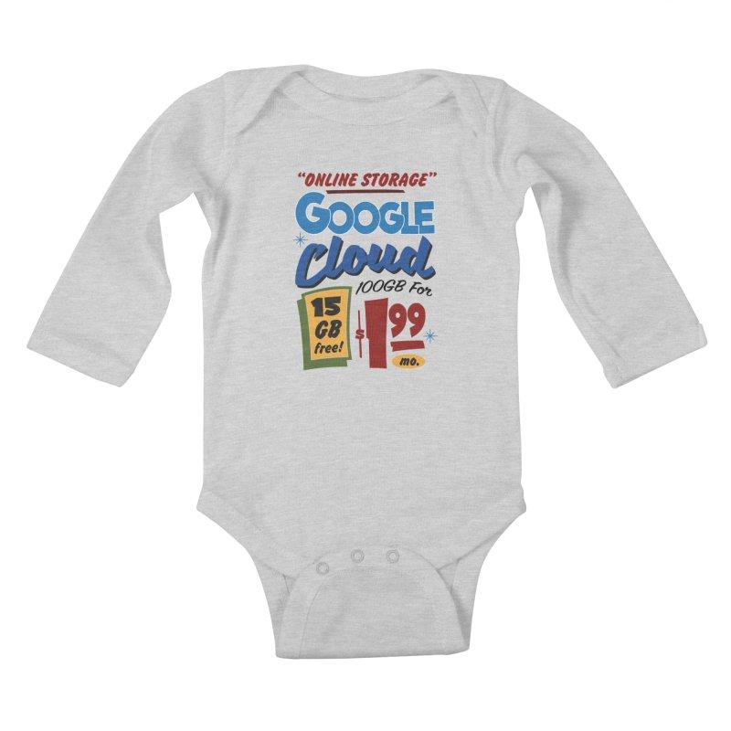 Google Cloud Sign Kids Baby Longsleeve Bodysuit by Ian J. Norris