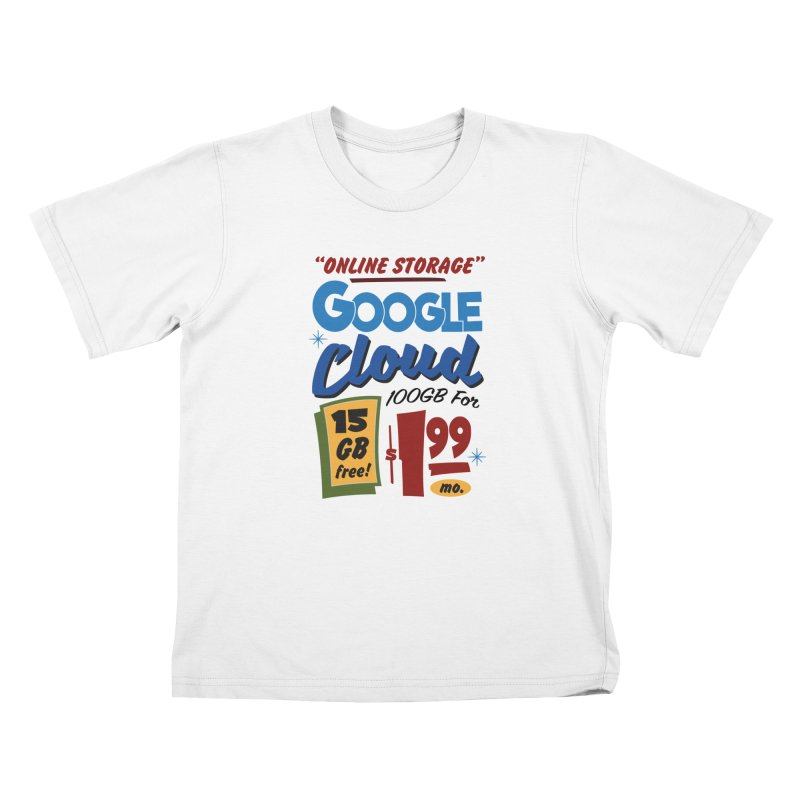 Google Cloud Sign Kids T-Shirt by Ian J. Norris