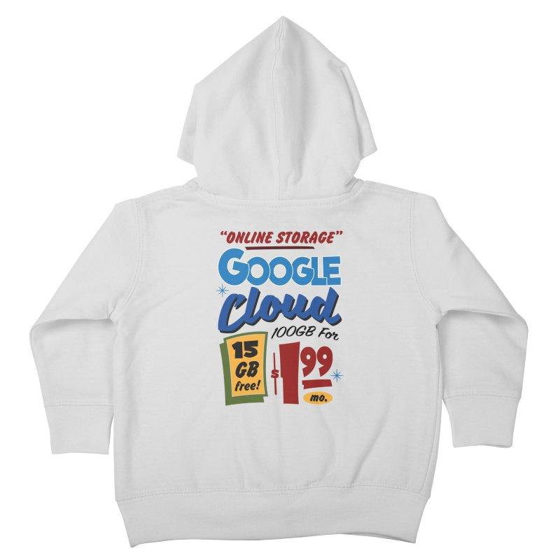 Google Cloud Sign Kids Toddler Zip-Up Hoody by Ian J. Norris