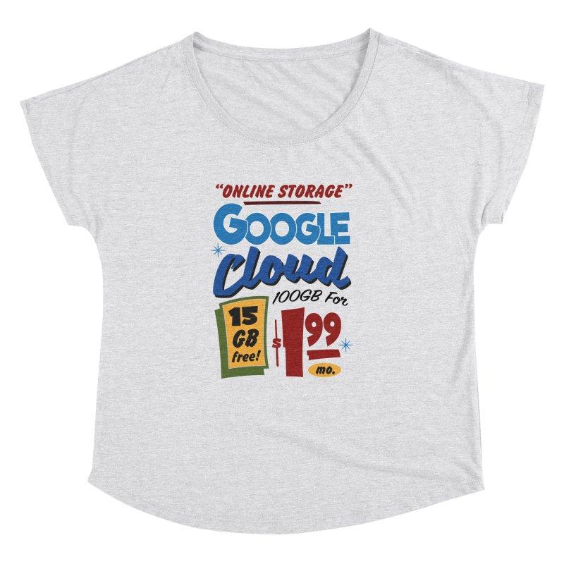 Google Cloud Sign Women's Scoop Neck by Ian J. Norris