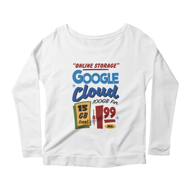 Google Cloud Sign Women's Scoop Neck Longsleeve T-Shirt by Ian J. Norris