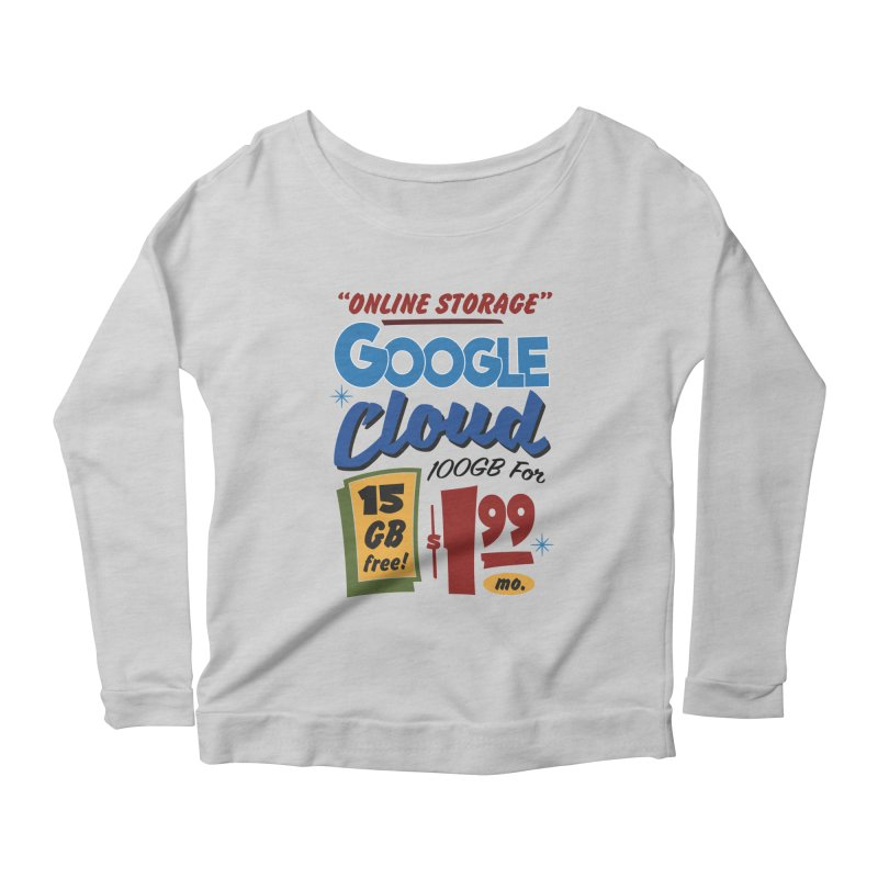 Google Cloud Sign Women's Scoop Neck Longsleeve T-Shirt by Ian J. Norris