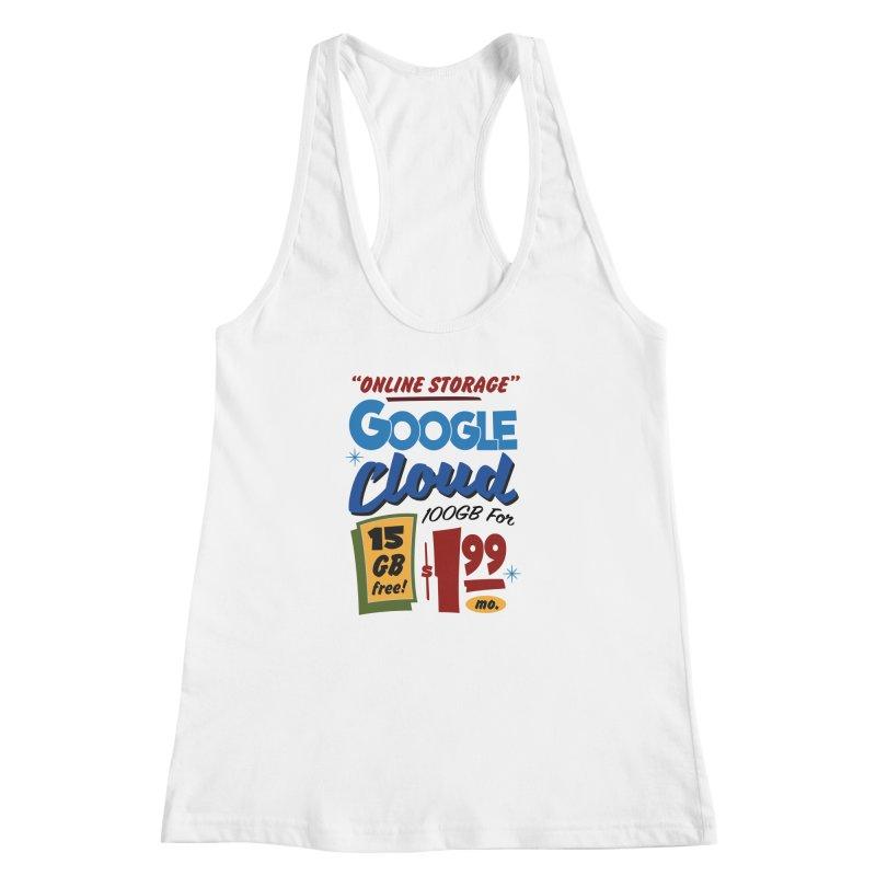 Google Cloud Sign Women's Racerback Tank by Ian J. Norris