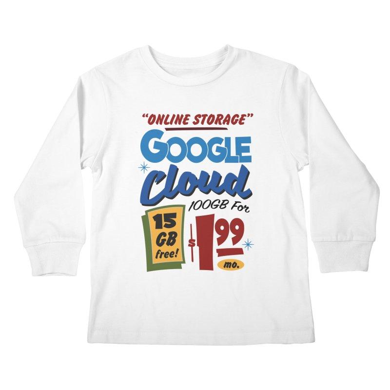Google Cloud Sign Kids Longsleeve T-Shirt by Ian J. Norris