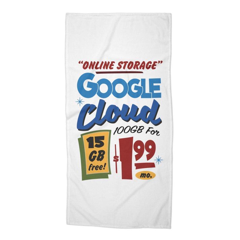 Google Cloud Sign Accessories Beach Towel by Ian J. Norris
