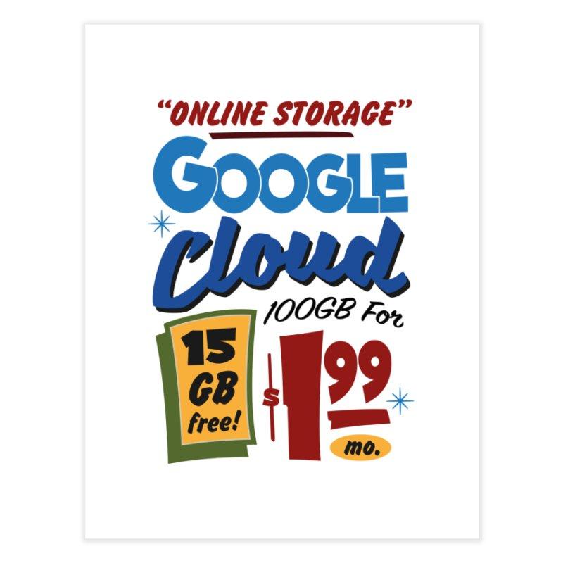Google Cloud Sign Home Fine Art Print by Ian J. Norris