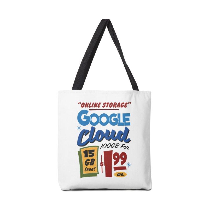 Google Cloud Sign Accessories Tote Bag Bag by Ian J. Norris