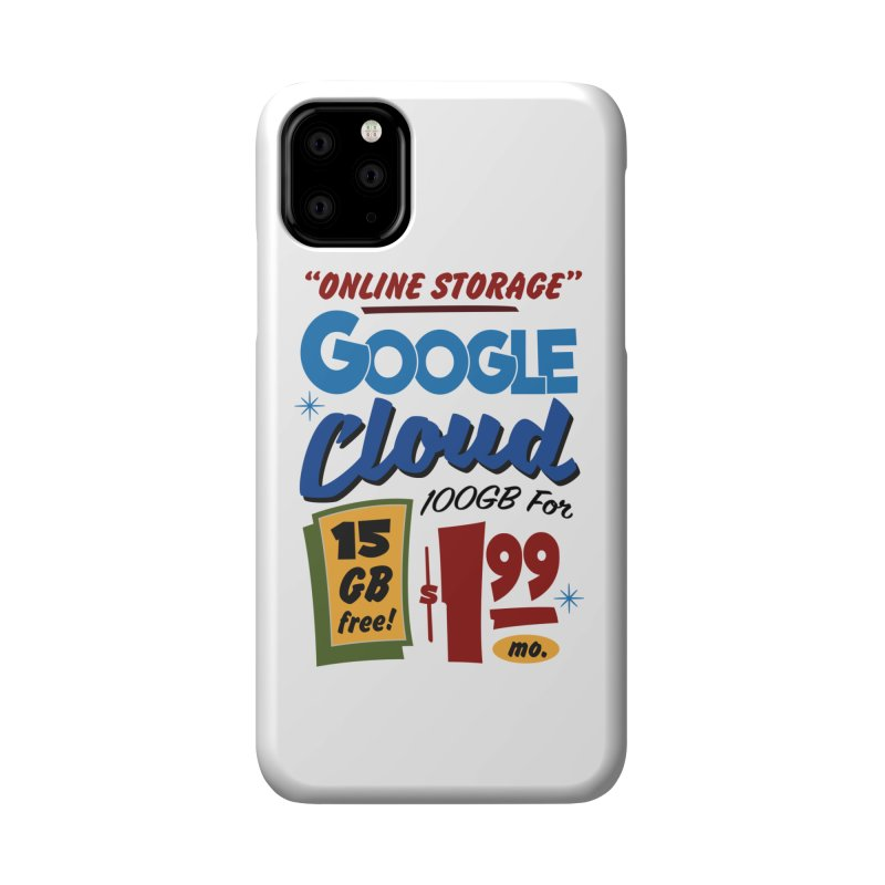 Google Cloud Sign Accessories Phone Case by Ian J. Norris