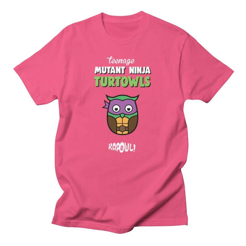 Teenage Mutant Ninja Turtowls - Donnatellowl Men's T-Shirt by Ian J. Norris