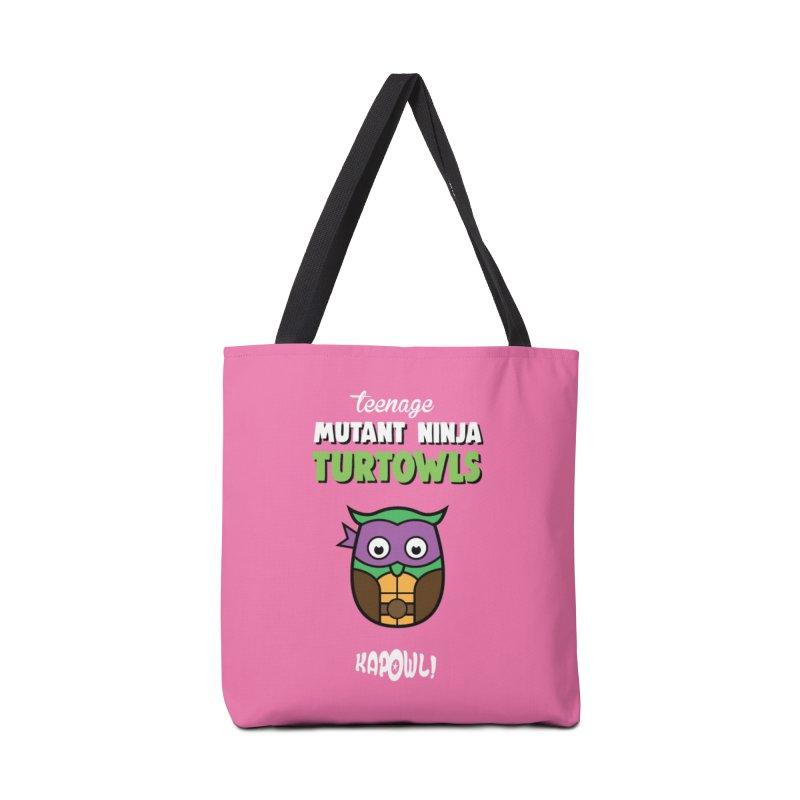 Teenage Mutant Ninja Turtowls - Donnatellowl Accessories Tote Bag Bag by Ian J. Norris