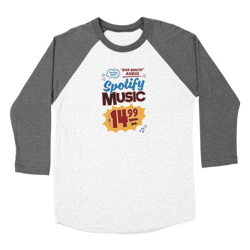 Spotify Sign Men's Baseball Triblend Longsleeve T-Shirt by Ian J. Norris