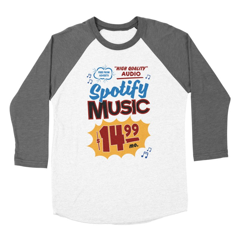Spotify Sign Women's Baseball Triblend Longsleeve T-Shirt by Ian J. Norris