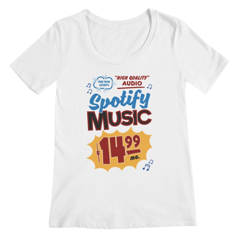 Spotify Sign Women's Regular Scoop Neck by Ian J. Norris