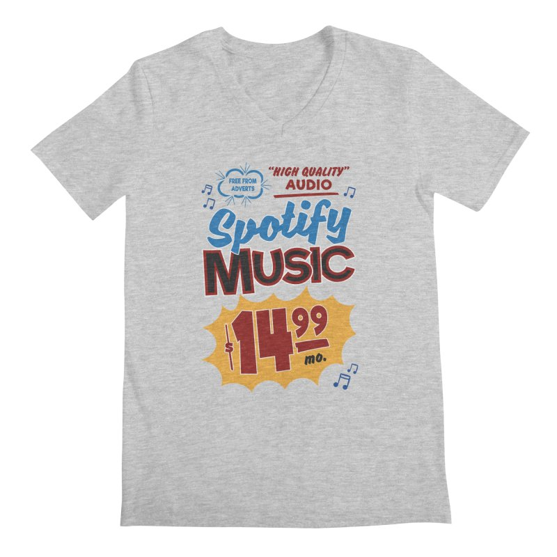 Spotify Sign Men's Regular V-Neck by Ian J. Norris