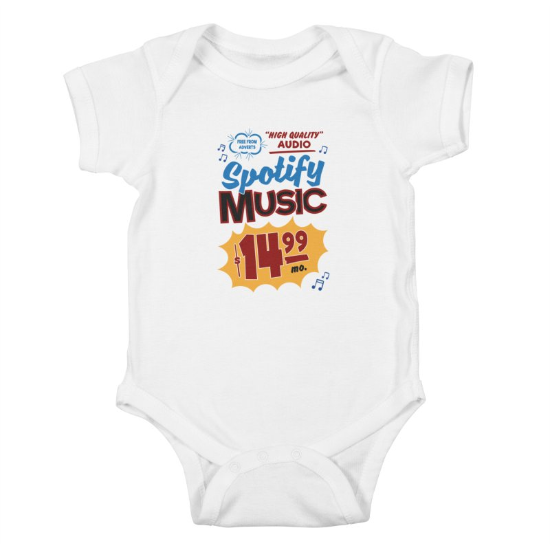 Spotify Sign Kids Baby Bodysuit by Ian J. Norris