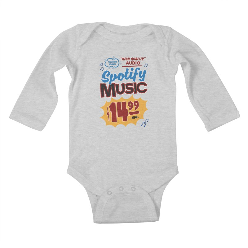 Spotify Sign Kids Baby Longsleeve Bodysuit by Ian J. Norris