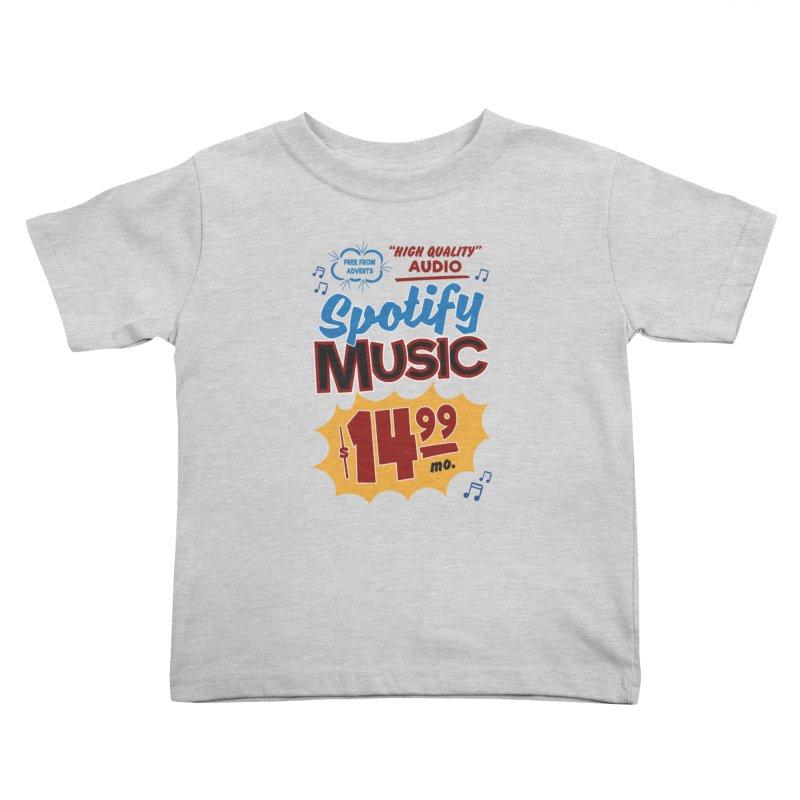 Spotify Sign Kids Toddler T-Shirt by Ian J. Norris
