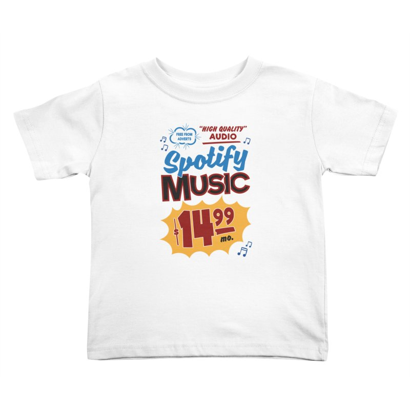 Spotify Sign Kids Toddler T-Shirt by Ian J. Norris