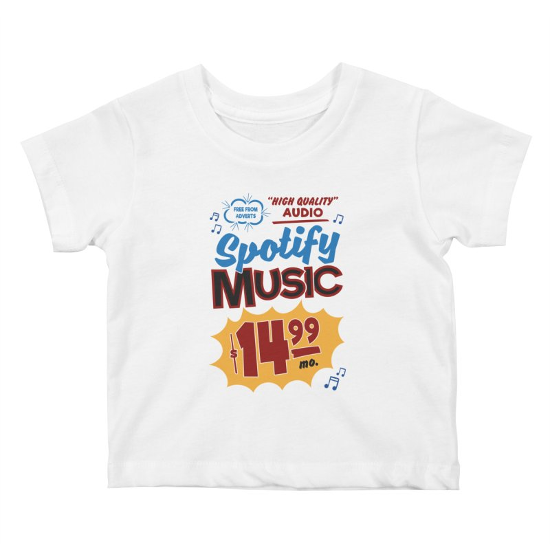 Spotify Sign Kids Baby T-Shirt by Ian J. Norris