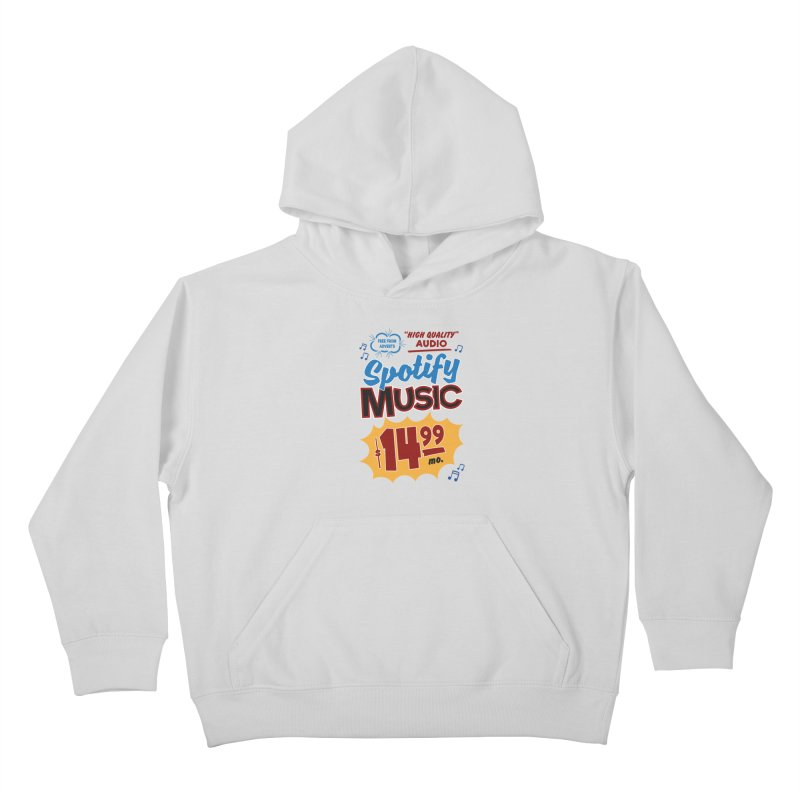 Spotify Sign Kids Pullover Hoody by Ian J. Norris