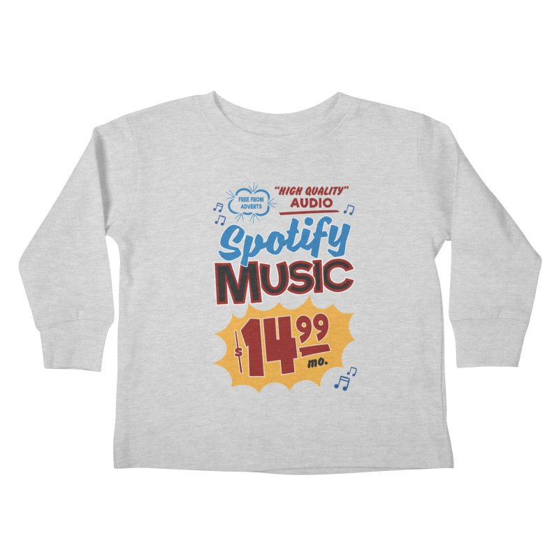 Spotify Sign Kids Toddler Longsleeve T-Shirt by Ian J. Norris