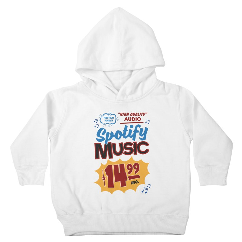 Spotify Sign Kids Toddler Pullover Hoody by Ian J. Norris