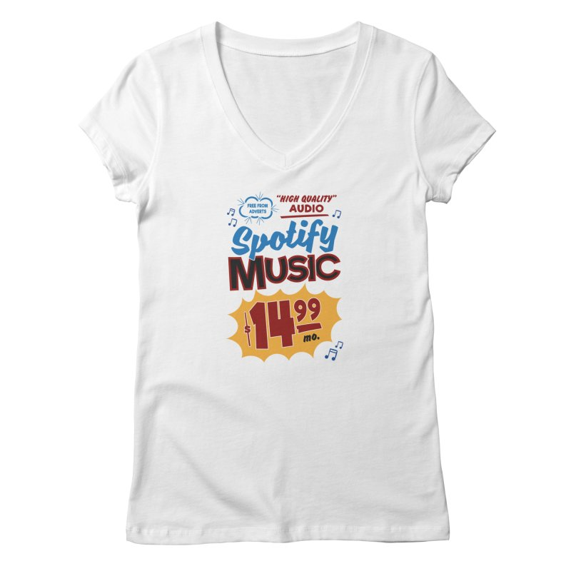 Spotify Sign Women's V-Neck by Ian J. Norris