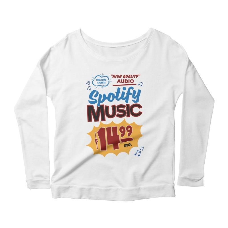 Spotify Sign Women's Scoop Neck Longsleeve T-Shirt by Ian J. Norris