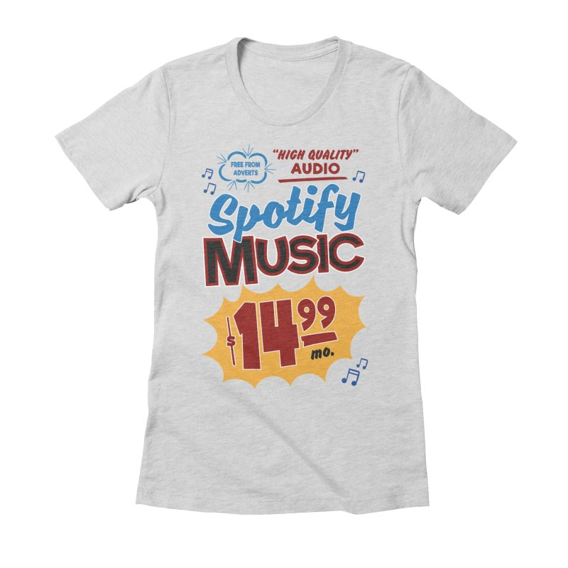 Spotify Sign Women's Fitted T-Shirt by Ian J. Norris