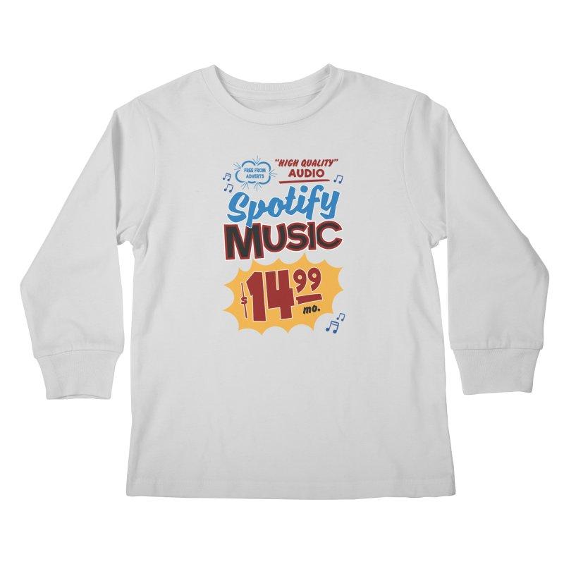 Spotify Sign Kids Longsleeve T-Shirt by Ian J. Norris