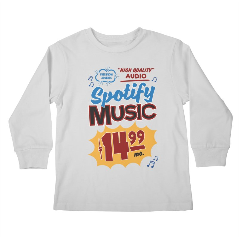 Spotify Sign Kids Longsleeve T-Shirt by Ian J. Norris