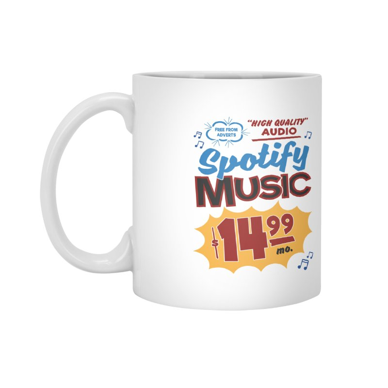 Spotify Sign Accessories Mug by Ian J. Norris