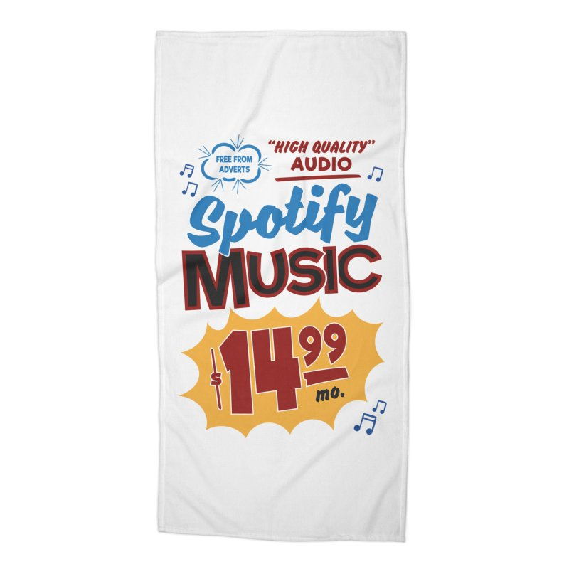 Spotify Sign Accessories Beach Towel by Ian J. Norris