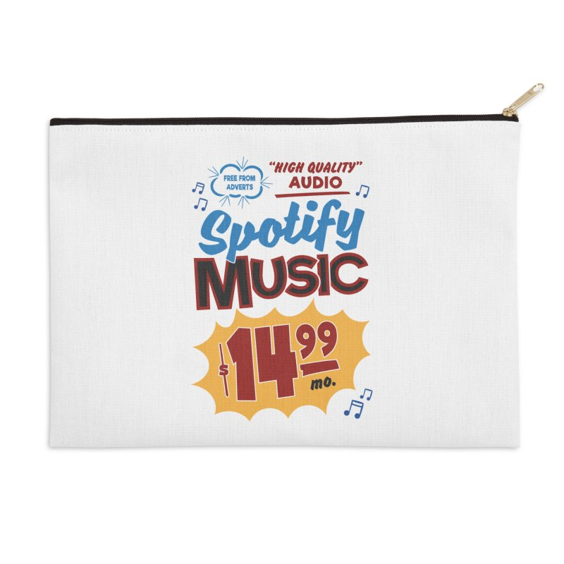 Spotify Sign Accessories Zip Pouch by Ian J. Norris