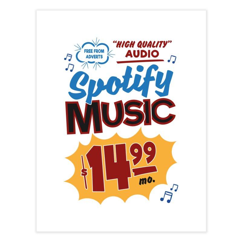 Spotify Sign Home Fine Art Print by Ian J. Norris