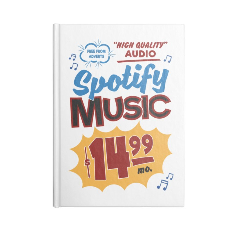 Spotify Sign Accessories Blank Journal Notebook by Ian J. Norris