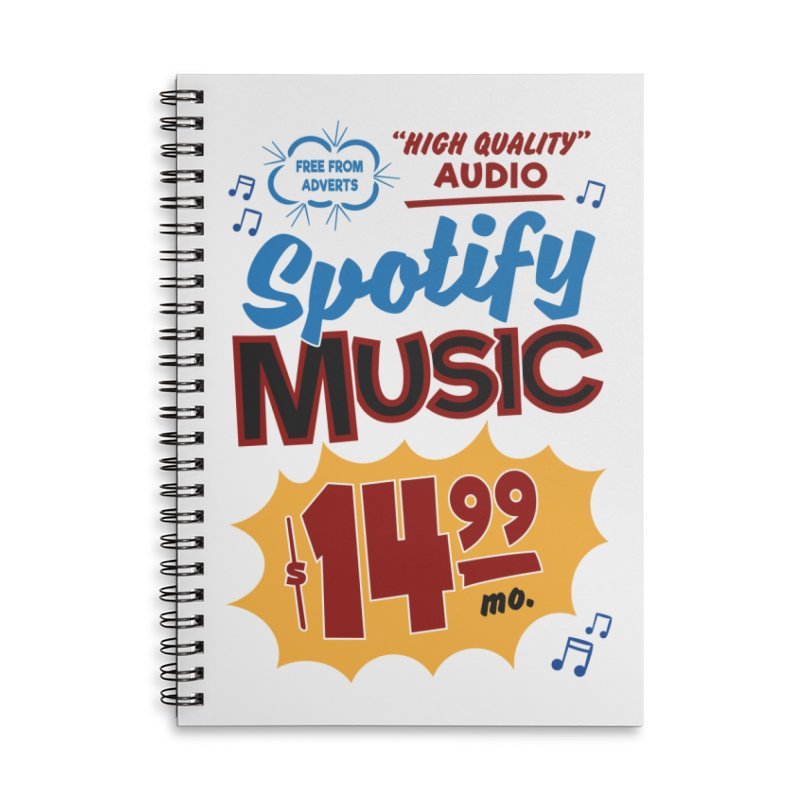 Spotify Sign Accessories Lined Spiral Notebook by Ian J. Norris
