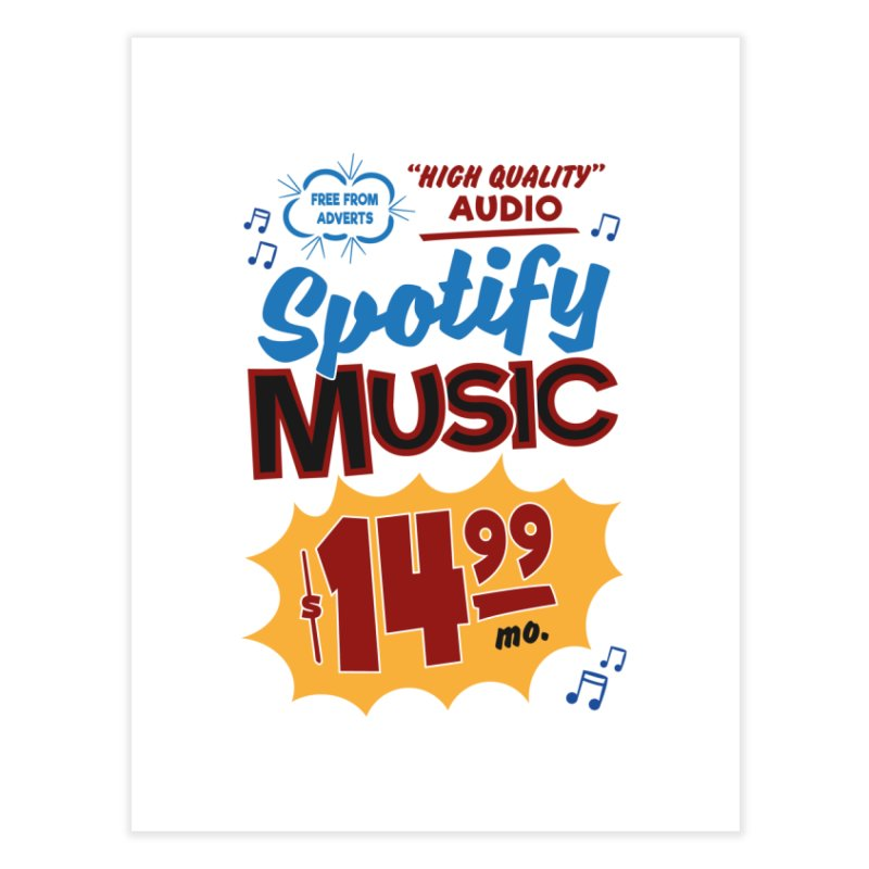 Spotify Sign Home Fine Art Print by Ian J. Norris