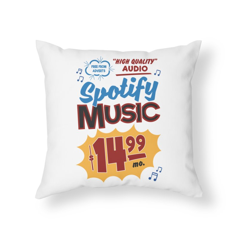 Spotify Sign Home Throw Pillow by Ian J. Norris