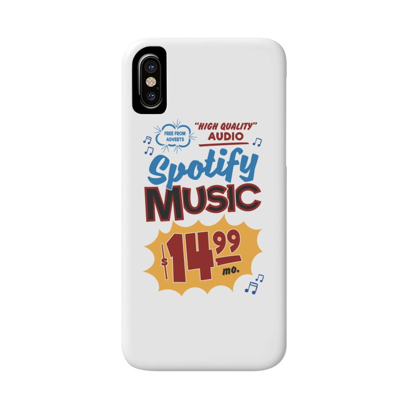 Spotify Sign Accessories Phone Case by Ian J. Norris