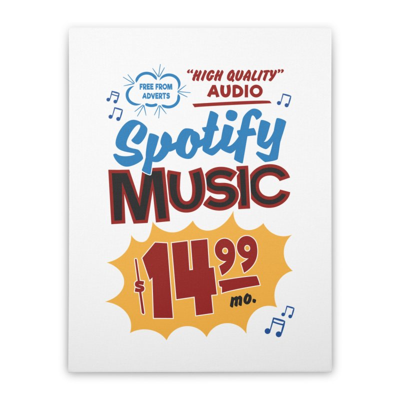 Spotify Sign Home Stretched Canvas by Ian J. Norris
