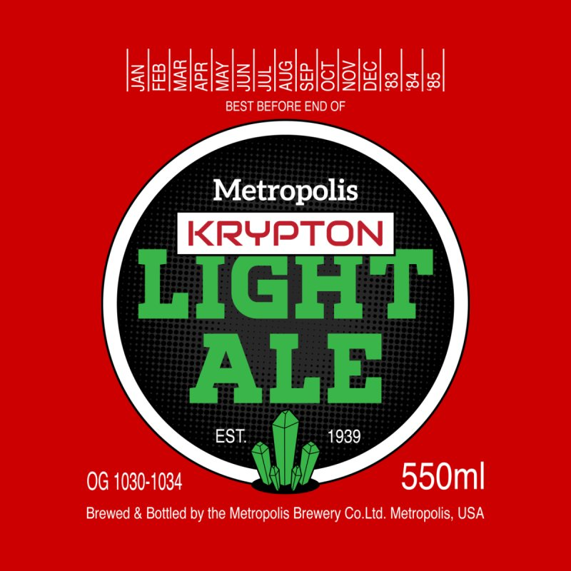 Metropolis Krypton Light Ale Men's Tank by Ian J. Norris
