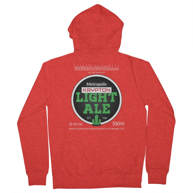 Metropolis Krypton Light Ale Women's Zip-Up Hoody by Ian J. Norris