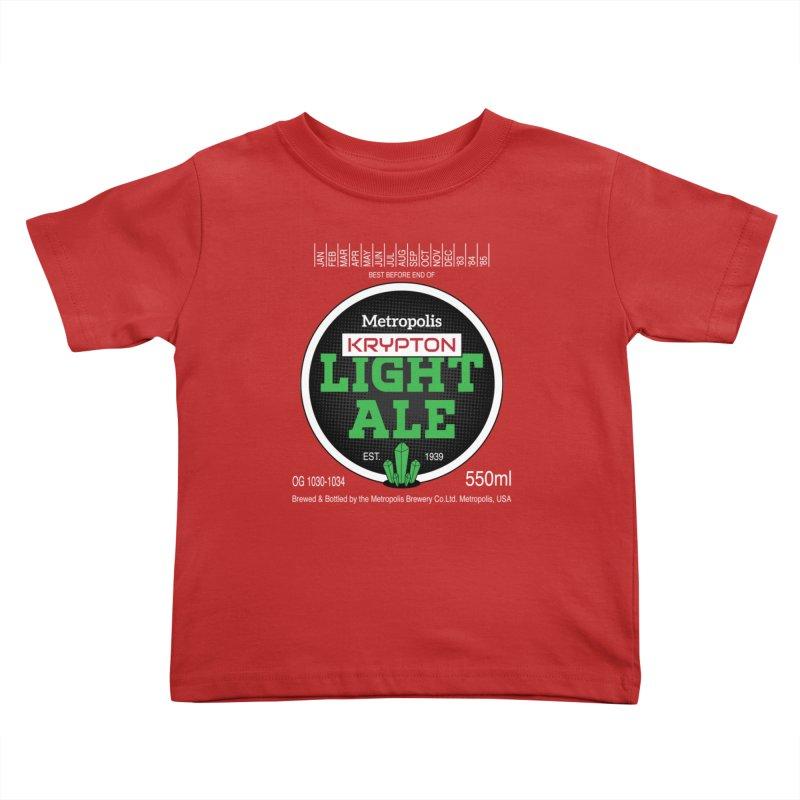 Metropolis Krypton Light Ale Kids Toddler T-Shirt by Ian J. Norris