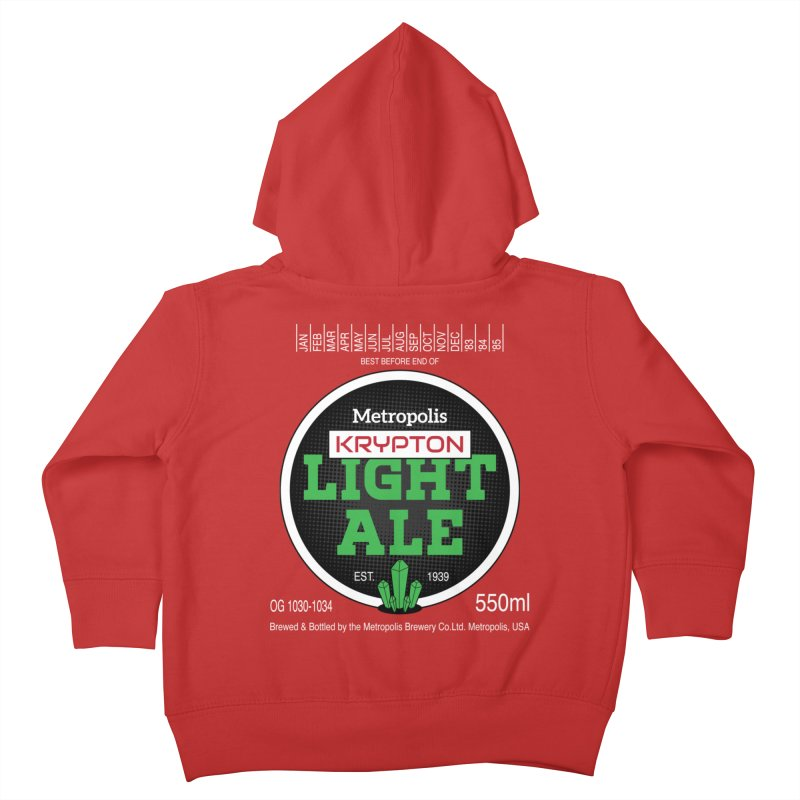 Metropolis Krypton Light Ale Kids Toddler Zip-Up Hoody by Ian J. Norris