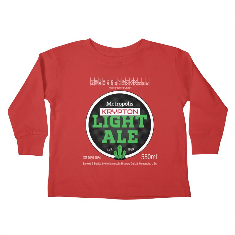 Metropolis Krypton Light Ale Kids Toddler Longsleeve T-Shirt by Ian J. Norris