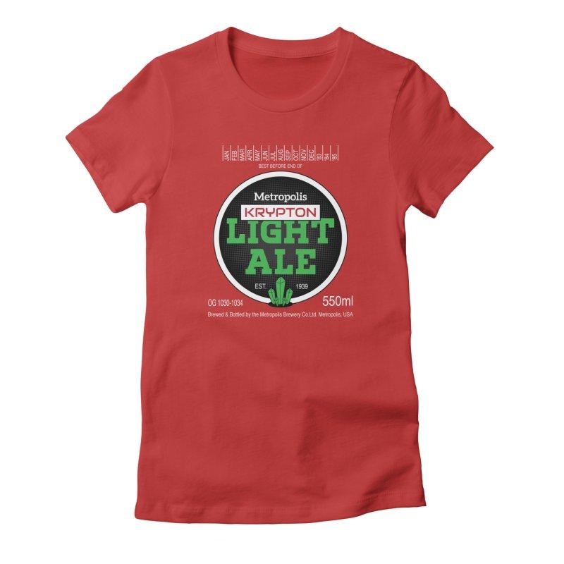 Metropolis Krypton Light Ale Women's T-Shirt by Ian J. Norris